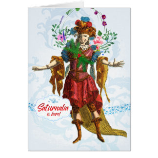 Saturnalia Reveler Greeting Card