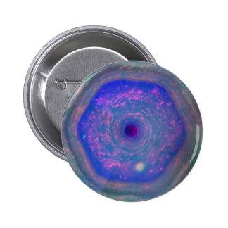 Saturn's Hexagonal Storm 2 Inch Round Button