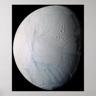 Saturn's moon Enceladus 3 Poster