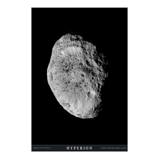 Saturn's Moon Hyperion Poster