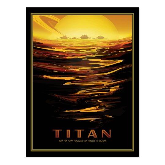 Saturns Moon Titan Space Tourism Postcard