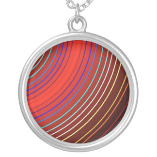 Saturns Rings Circle Pendant Necklace
