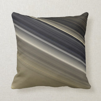 Saturn's Rings - Natural Color Throw Pillow