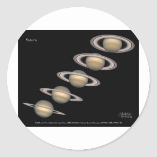 Saturn's Rings tilt 1996-2000 Astronomy Gifts Classic Round Sticker