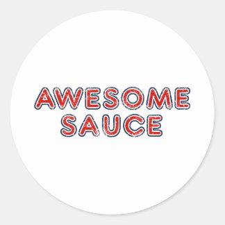 Sauce impressionnante sticker rond