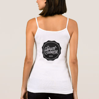 SauceCubaine White logo with the back Tank Top
