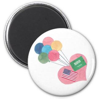 saudi-american round magnet
