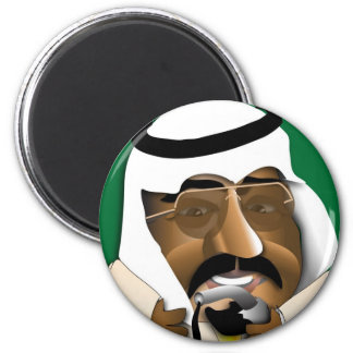 Saudi Arabia 2 Inch Round Magnet