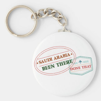 Saudi Arabia Been There Done That Basic Round Button Keychain