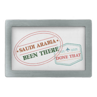 Saudi Arabia Been There Done That Rectangular Belt Buckle