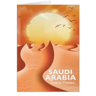 Saudi Arabia By Air travel poster Card