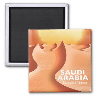 Saudi Arabia By Air travel poster Square Magnet