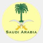 Saudi Arabia Circular Sticker* Classic Round Sticker