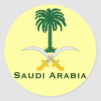 Saudi Arabia Circular Sticker* Classic Round Sticker