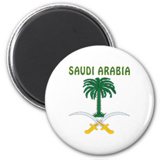 SAUDI ARABIA Coat Of Arms 2 Inch Round Magnet