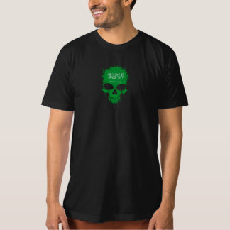 Saudi Arabia Dripping Splatter Skull T-Shirt