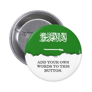 Saudi Arabia Flag 2 Inch Round Button