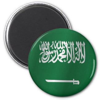 Saudi Arabia flag 2 Inch Round Magnet