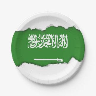Saudi Arabia Flag 7 Inch Paper Plate