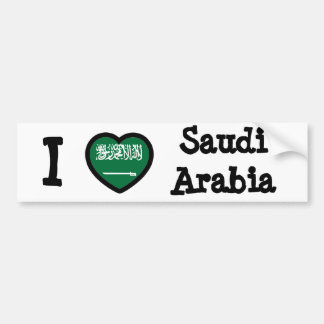 Saudi Arabia Flag Bumper Sticker