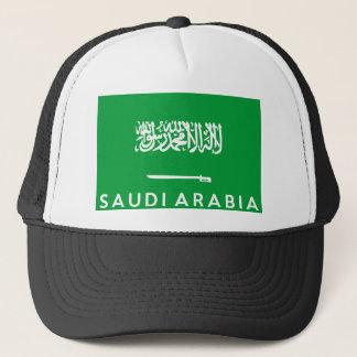 saudi arabia flag country text name trucker hat