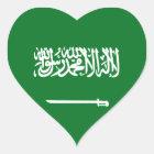 Saudi Arabia Flag Heart Sticker