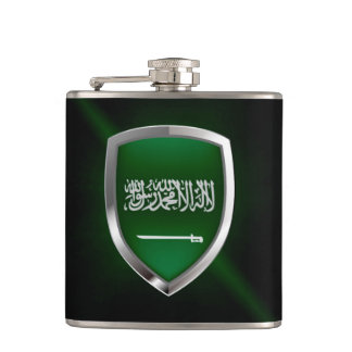 Saudi Arabia Metallic Emblem Hip Flask