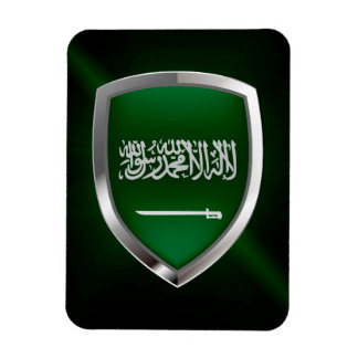 Saudi Arabia Metallic Emblem Magnet