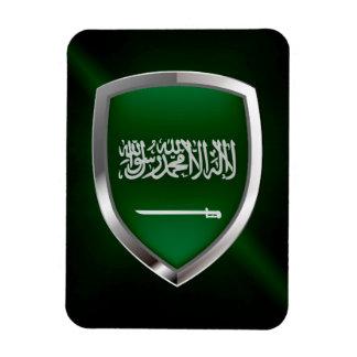 Saudi Arabia Metallic Emblem Rectangular Photo Magnet