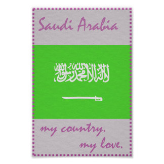 Saudi Arabia My Country My Love Poster