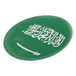 Saudi Arabia Saudi Arabian Green & White Flag Plate
