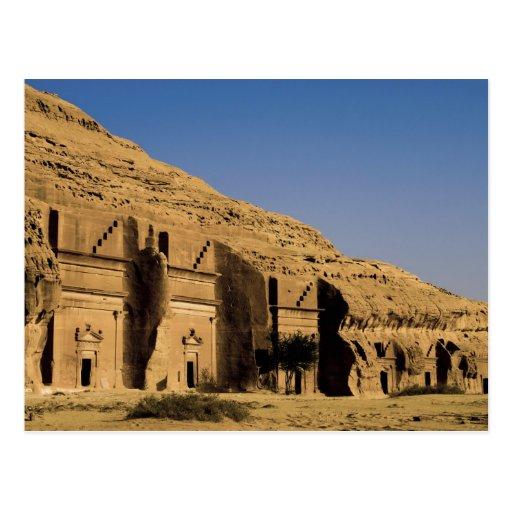 Saudi Arabia, site of Madain Saleh, ancient 2 Postcard