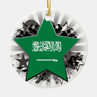 Saudi Arabia Star Ceramic Ornament