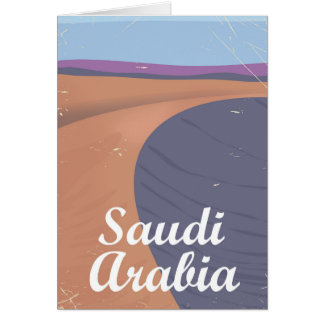 Saudi Arabia vintage travel poster Card