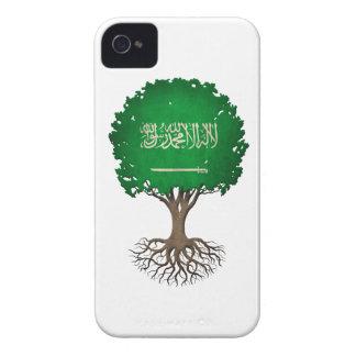 Saudi Arabian Flag Tree of Life Customizable iPhone 4 Cover