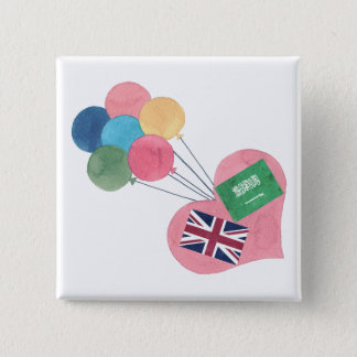 saudi-british square pinback button