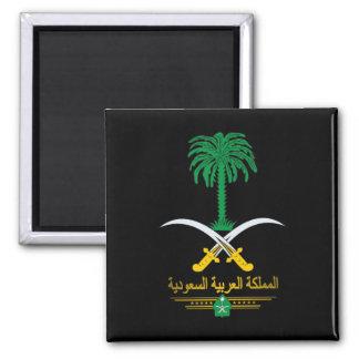 Saudi National Emblem Square Magnet