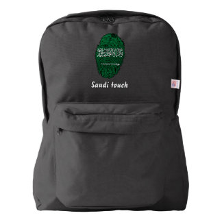 Saudi touch fingerprint flag backpack