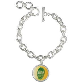 Saudi touch fingerprint flag charm bracelet