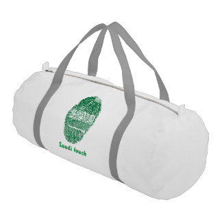 Saudi touch fingerprint flag gym bag