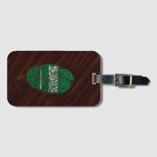 Saudi touch fingerprint flag luggage tag