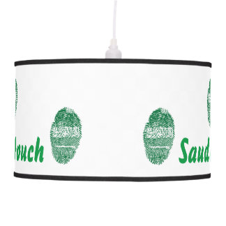 Saudi touch fingerprint flag pendant lamp