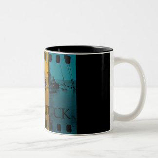 Saugatuck Michigan Sailing Mug Rainbow Vintage