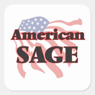 Sauge américaine sticker carré
