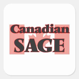 Sauge canadienne sticker carré
