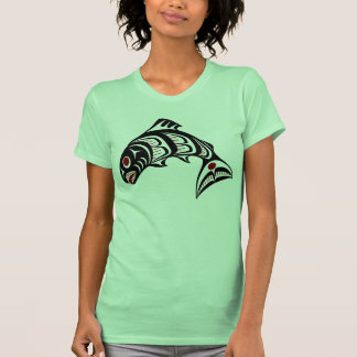Saumon du nord-ouest d'art de Haida de Côte T-shirt