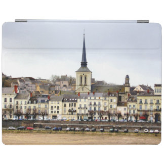 Saumur River Bank Scene iPad Cover