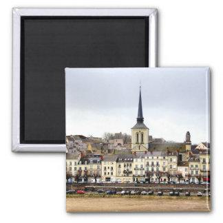 Saumur River Bank Scene Magnet