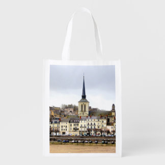 Saumur River Bank Scene Reusable Bag