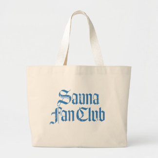Sauna Fan Club Blue Jumbo Tote Bag